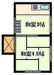 鎌原アパート[2階]の間取り
