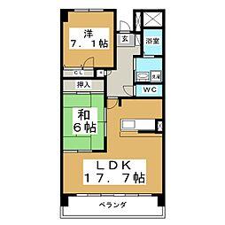 グラスランド21[3階]の間取り