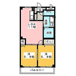 アイダイトクI[2階]の間取り