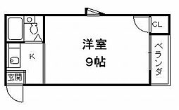 京都府京都市伏見区深草平田町の賃貸マンションの間取り