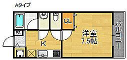 ディアコート高松[1階]の間取り