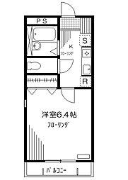 東京都渋谷区西原3丁目の賃貸マンションの間取り