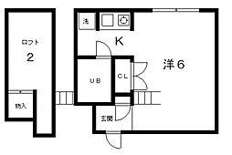 トラスティコート[1階]の間取り
