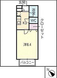 リバティ倉知[2階]の間取り