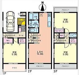 [テラスハウス] 神奈川県藤沢市渡内 の賃貸【/】の間取り
