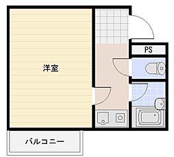 リッツ舞子坂[5階]の間取り