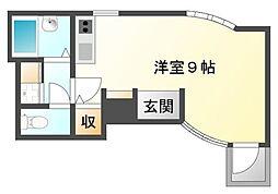 カルム香川[1階]の間取り