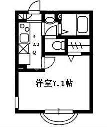 千葉県船橋市二和東6丁目の賃貸アパートの間取り