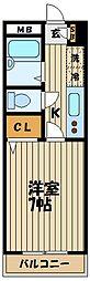 サザンコーポ[1階]の間取り