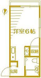 マリンコーポII[2階]の間取り