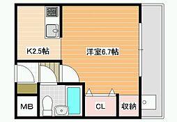 ネオシティ藤井寺[3階]の間取り