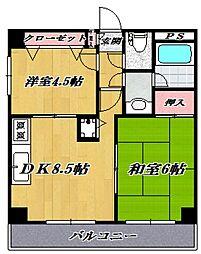 宮崎台コートパレス[402号室号室]の間取り