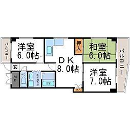 エレガンス松本2号館[3階]の間取り