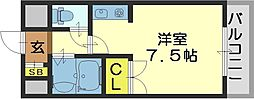 SENTIA八戸ノ里[301号室]の間取り