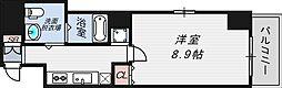 大阪府大阪市北区野崎町の賃貸マンションの間取り