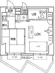 天神エクセル12[5階]の間取り