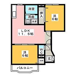リセス・ガーデンI[1階]の間取り