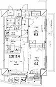 東南角部屋 南側リビング脇の洋室は3面引戸で開放可