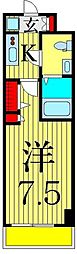 京成本線 お花茶屋駅 徒歩9分の賃貸マンション 10階1Kの間取り