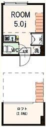 東京都板橋区大山西町の賃貸アパートの間取り