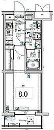 BPRレジデンス東糀谷(旧XEBEC大鳥居) 1階1Kの間取り