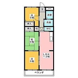 ラフィネI[3階]の間取り