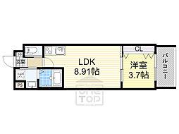 V-Rencontre Suita 3階1LDKの間取り