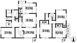 [一戸建] 兵庫県宝塚市青葉台1丁目 の賃貸【/】の間取り