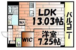 U-Basic Leef三萩野[702号室]の間取り