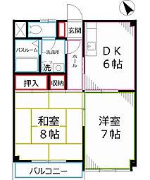 サンハイツE戸倉[2階]の間取り