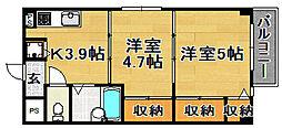 大阪府大阪市東淀川区瑞光4丁目の賃貸マンションの間取り