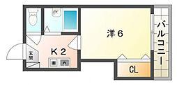 スタジオM[3階]の間取り