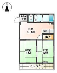 第2マルカネビル[3階]の間取り
