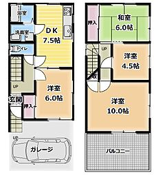 [一戸建] 大阪府東大阪市上四条町 の賃貸【/】の間取り