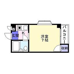 アルテハイム帝塚山東[3階]の間取り