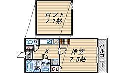 アルファステージ中森[2階]の間取り