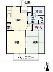 forest蔵子[2階]の間取り