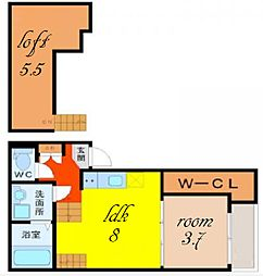 ハーモニーテラス鳴海IV[2階]の間取り