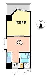 愛知県名古屋市東区東桜1丁目の賃貸マンションの間取り