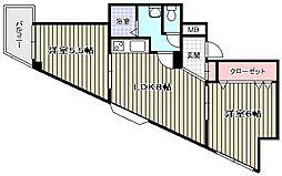 ワンダーグランドハイツ[6階]の間取り