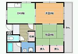 アドバンテージ三宅I[2階]の間取り