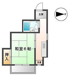 愛知県清須市新清洲3丁目の賃貸マンションの間取り