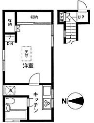 神奈川県相模原市中央区上矢部5丁目の賃貸アパートの間取り