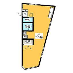 キュウブEX三俣[2階]の間取り