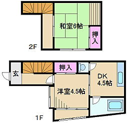 [一戸建] 東京都北区豊島3丁目 の賃貸【/】の間取り