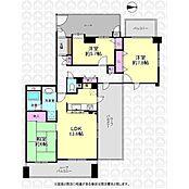 リビングと独立した二部屋は隣接する部屋がないのでプライバシーも高く保てます