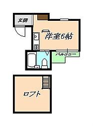 ソレイユ西山[2階]の間取り