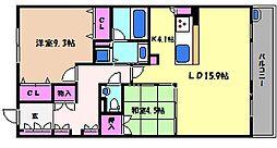クエルクス[4階]の間取り