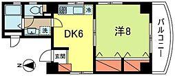 東京都杉並区阿佐谷北1丁目の賃貸マンションの間取り