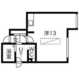 スカイガーデン札幌南[202号室]の間取り